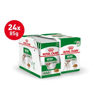 Royal Canin Mini Adult In Sauce Pouches Wet Dog Food 24 x 85g