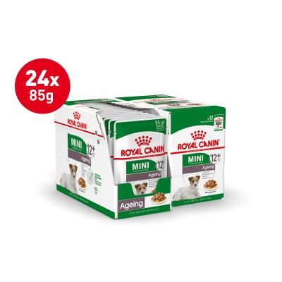 Royal Canin Mini Ageing In Gravy Pouches Wet Dog Food 24 x 85g