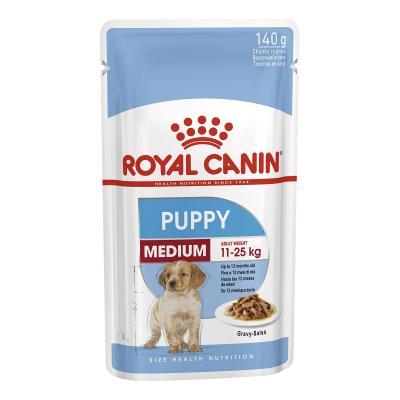 Royal Canin Medium Puppy In Gravy Pouches Wet Dog Food 40 x 140g