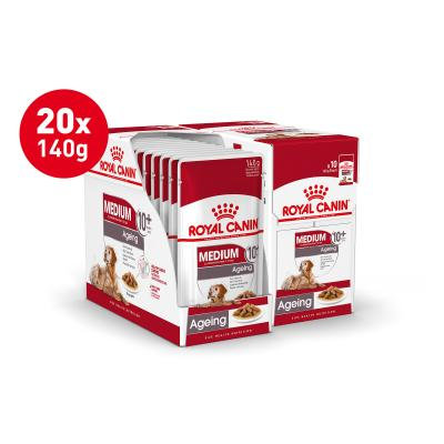 Royal Canin Medium Ageing 10+ Years Loaf Pouches Wet Dog Food 20 x 140g