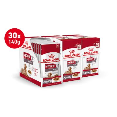 Royal Canin Medium Ageing 10+ Years Loaf Pouches Wet Dog Food 30 x 140g