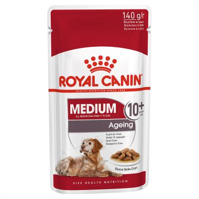 Royal Canin Medium Ageing 10+ Years In Sauce Pouches Wet Dog Food 30 x 140g