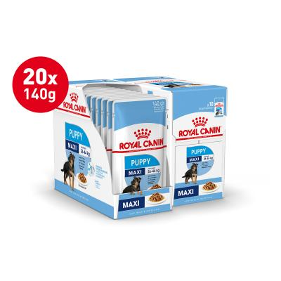 Royal Canin Maxi Puppy In Gravy Pouches Wet Dog Food 20 x 140g