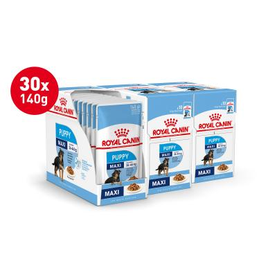 Royal Canin Maxi Puppy In Gravy Pouches Wet Dog Food 30 x 140g