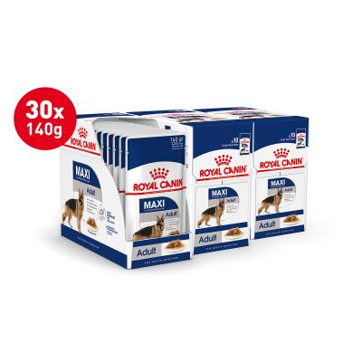 Royal Canin Maxi Adult In Gravy Pouches Wet Dog Food 30 x 140g