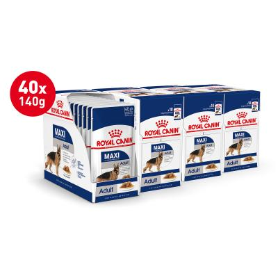 Royal Canin Maxi Adult In Gravy Pouches Wet Dog Food 40 x 140g