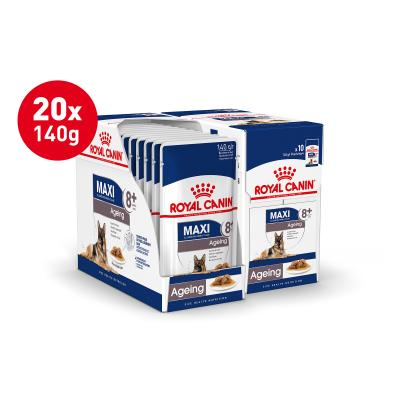 Royal Canin Maxi Ageing 8+ Years In Gravy Pouches Wet Dog Food 20 x 140g
