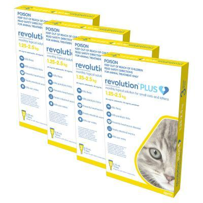 Revolution Plus For Kittens And Small Cats 1.25-2.5kg 12 Pack