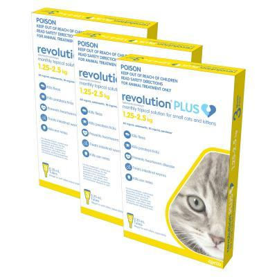 Revolution Plus For Kittens And Small Cats 1.25-2.5kg 9 Pack