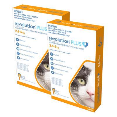 Revolution Plus For Medium Cats 2.6-5kg 12 Pack