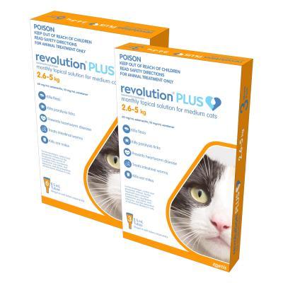 Revolution Plus For Medium Cats 2.6-5kg 9 Pack