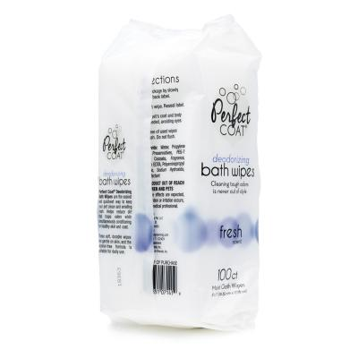 Perfect Coat Deodorising Fresh Scent Bath Wipes For Dogs 100 Pack