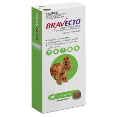 Bravecto For Medium Dogs 10-20kg 1 Chew