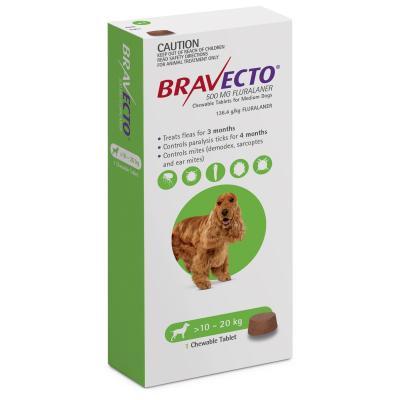 Bravecto For Medium Dogs 10-20kg 1 Chew