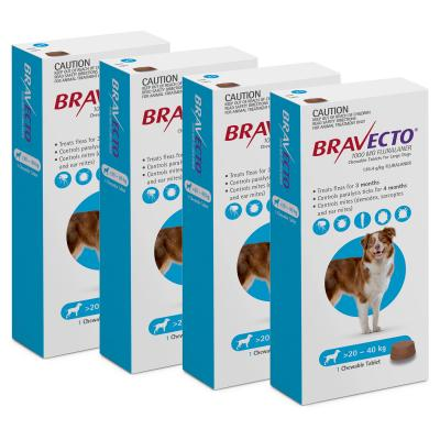 Bravecto For Large Dogs 20-40kg 1 Chew X 4