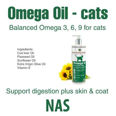 Natural Animal Solutions Omega 3,6 & 9 Oil For Cats 200ml