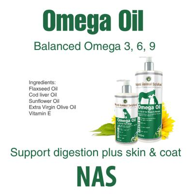 Natural Animal Solutions Omega 3,6 & 9 Oil For Dogs And Horses 2 litre (2 x 1litre)