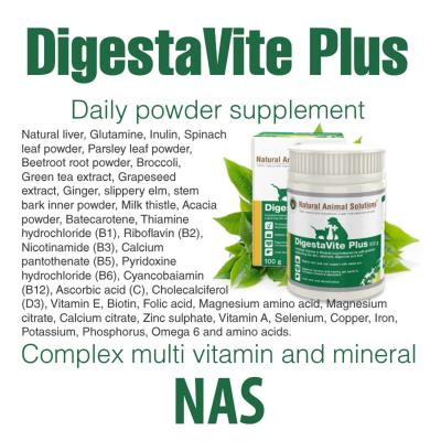 Natural Animal Solutions (NAS) DigestaVite Plus For Dogs And Cats 200gm (100gm x 2)