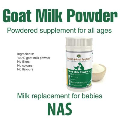 Natural Animal Solutions(NAS) Goat Milk Powder For Dogs And Cats 800gm (400gm x 2)