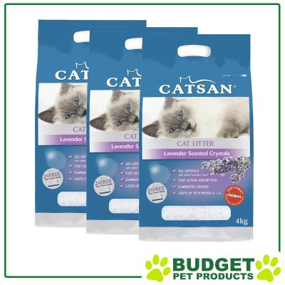 Catsan Crystal Lavender Scented Litter For Cats 12kg
