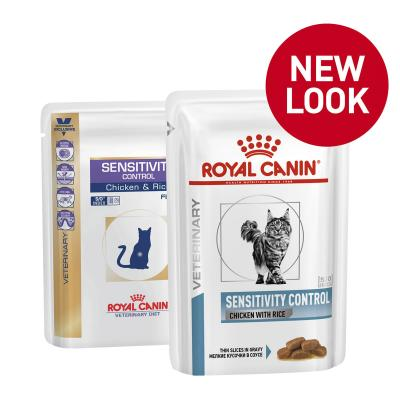 Royal Canin Veterinary Diet Feline Sensitivity Control Pouch Wet Cat Food 100gm x 12 (NH204)