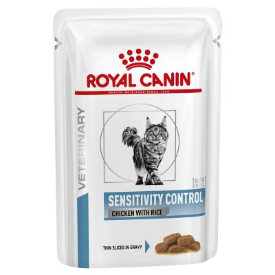 Royal Canin Veterinary Diet Feline S/O Sensitivity Control Pouch Wet Cat Food 85gm x 12 (BX99T)