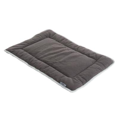 Rogz Roll Up Fleece Mat Lounge Podz Grey Small Bed For Dogs