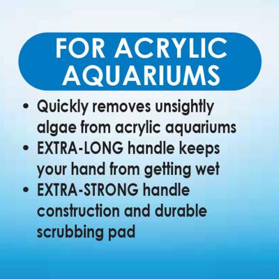 API Algae Scraper Cleaner For Glass Fish Aquarium