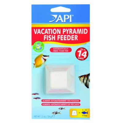 API Vacation Pyramid Fish Feeder Up to 14 Days For Fish Aquarium