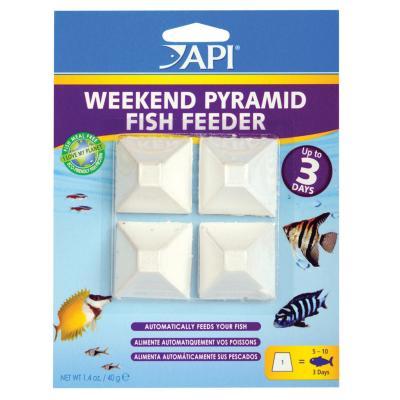 API Weekend Pyramid Fish Feeder 4 x 3 Days For Fish Aquarium