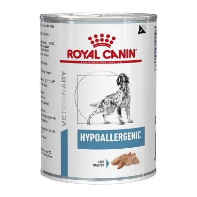 Royal Canin Veterinary Diet Canine Hypoallergenic Canned Wet Dog Food 400gm x 12 (BY26E)