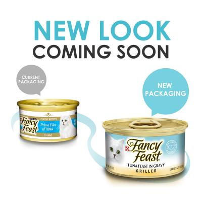 Fancy Feast Grilled Tuna Feast In Gravy Adult Canned Wet Cat Food 85g x 24
