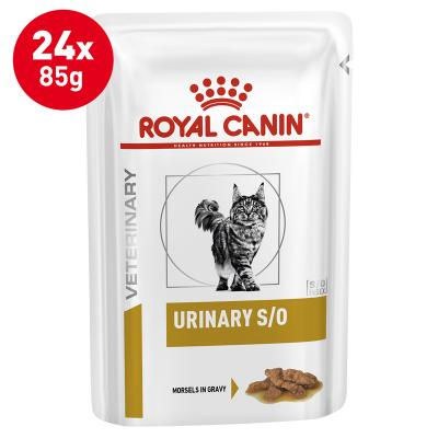 Royal Canin Veterinary Diet Feline S/O Urinary Chicken Pouch Wet Cat Food 85gm x 24