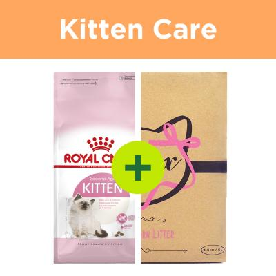 Royal Canin Kitten Food Plus Minx Litter For Cats