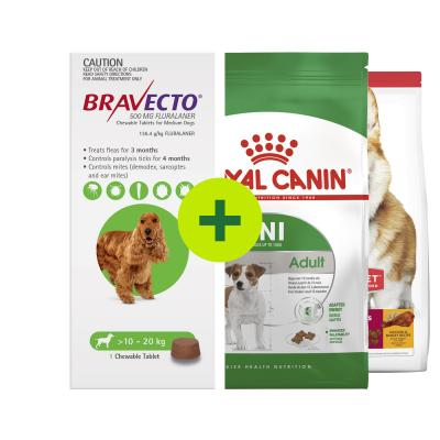Bravecto Single Chew Plus Premium Small Breed Food For Dogs