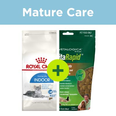 Royal Canin Mature Food Plus Vitarapid Supplement Treats For Cats