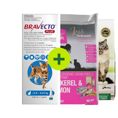 Bravecto Plus Spot On Plus Grain Free Natural Food For Cats