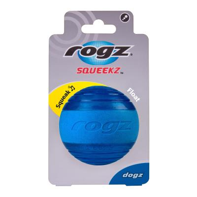 Rogz Squeekz Bounce Ball Blue Toy For Dogs