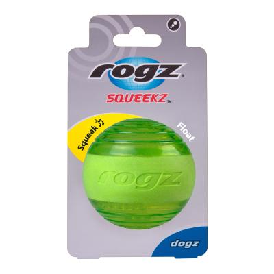 Rogz Squeekz Bounce Ball Lime Toy For Dogs