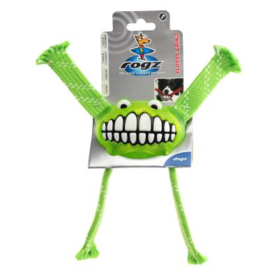 Rogz Flossy Grinz Squeak Lime Small Toy For Dogs