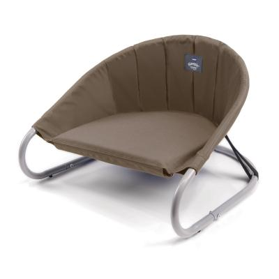 Kazoo Sleepin Round Deluxe Raised Bed Cappuccino Small For Cats And Dogs