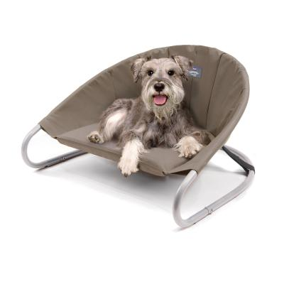 Kazoo Sleepin Round Deluxe Raised Bed Cappuccino Medium For Dogs