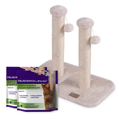 Complete Scratch Training Solution For Multicat And Multiscratch Locations - Feliscratch By Feliway Kazoo Small Post For Kittens And Cats