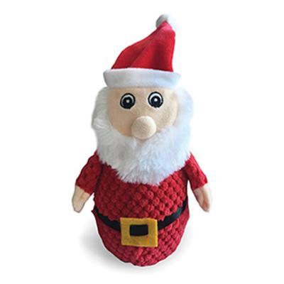 Kazoo Christmas Plush Santa Squeak Medium Toy For Dogs