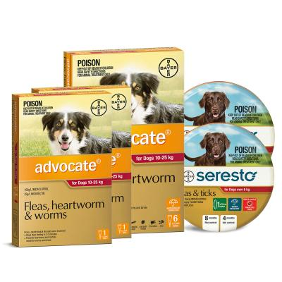 Advocate And Seresto For Large Dogs 10-25kg - 8 Month Protection Pack