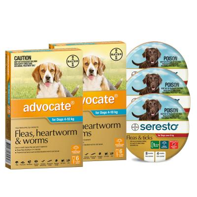 Advocate And Seresto For Medium Dogs 8-10kg - 12 Month Protection Pack