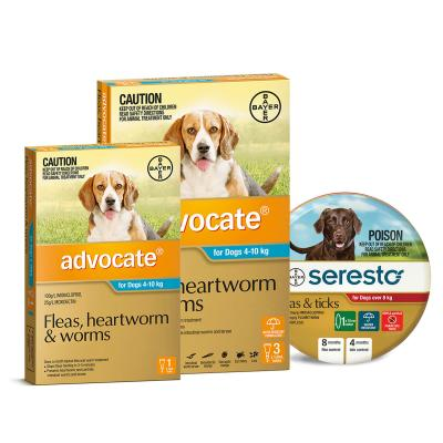 Advocate And Seresto For Medium Dogs 8-10kg - 4 Month Protection Pack