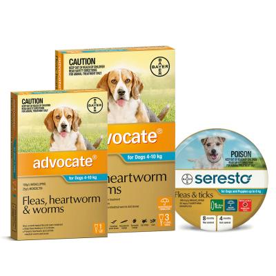 Advocate And Seresto For Small Dogs 4-8kg - 4 Month Protection Pack