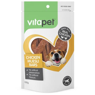 Vitapet Chicken Muesli Bars Treats For Dogs 100gm