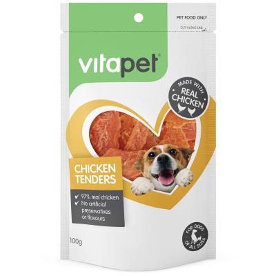 Vitapet Chicken Tenders Treats For Dogs 100gm